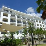 Hotel exterior from the beach.