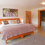 We have 2 guest rooms, each with its own private entrance, king size bed and private bath.