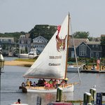 Take a sunset cruise on Hyannis harbor directly across from our motel