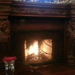The Churchill Lounge fireplace