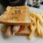 Our latest visit, horrible sandwich - boiled sausage