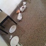 food left in corridors