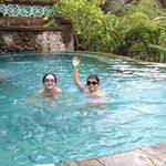 kids having fun in the pool.