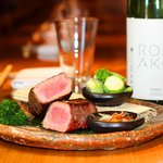 Steak and Roka Akor Sake