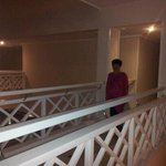 walk way over bridge to just 2 rooms very private