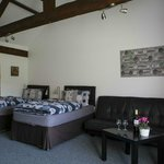 Family room. Twin beds and sofabed