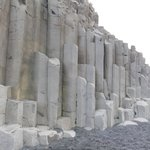 black beach - rock formation