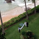 one of the dozens of weddings that took place at the hotel during our stay