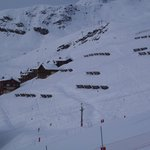 View of the Chalet & Trail to piste