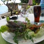 Crevettes crues au lait de coco