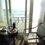 Breakfast overlooking the sea