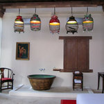 Shikumen Villa Romantic Suite with antique hip bath.