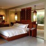 The bedroom area