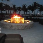 The firepit is lit every night