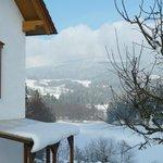 Blick auf die Berge des Bayerischen Waldes im Januar 2013