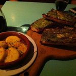 Garlic Bread and Shrimp Appetizer
