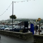 Looe harbour/town on our last day, foggy!!