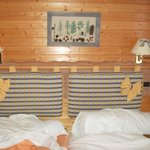 Bed in room 11 Tremplin Hotel