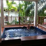 Plunge pool on balcony