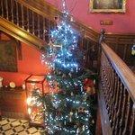 entrance hall at Christmas