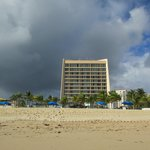 Hotel from the beach!