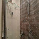modern, full size bath, terrific shower