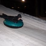 Night time snow tubing!