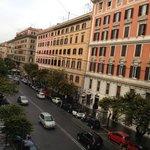 view from window of Via Cola di Rienzo