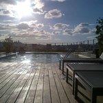 Piscine sur le toit chauffée avec vue à 360 sur Barcelone