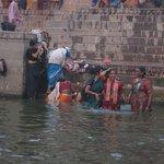 Bathing in Ganges