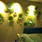 Wall decor at reception