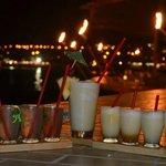 mojito and colada samplers in the bar - yummmmmy!