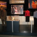 SNL Headline News display with Tina Fey costumes.