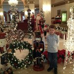 Omni Shoreham lobby at Christmas