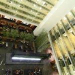 Atrium looking down on lobby