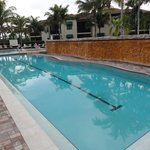 The large heated lap pool.