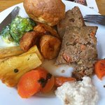 Delicious nut roast Sunday lunch