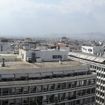 Panoramic view of Athens from The Olive Garden at the top floor of the Titania