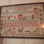 "Wendy's Sampler--an image similar to the one used on the ""Sampler Curtain"" fro"