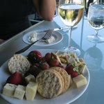 cheese plate at red newt winery bistro