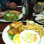 Fish and Chips and the Turkey burger....was awesome