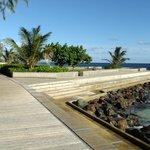 Boardwalk Along The Sea