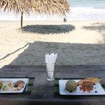 enjoy good food just on the beach!