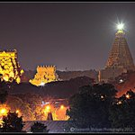 night view of the temple from half a km distance..