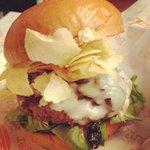 Chip Shot Burger: mushrooms, chips and more!