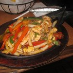 Lunada's Fajitas with chicken, shrimp & steak