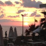 sunset from Atki beach hotel pool in nov 2012
