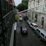 View from our balcony, looking toward Jackson Square