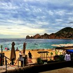 View across to the Famous rocks from Cabos Beach Resort