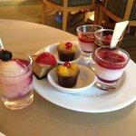 Business lounge's  sweet treats